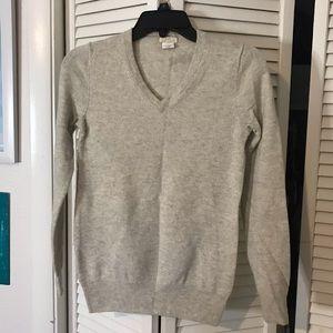 J Crew - V neck cashmere sweater
